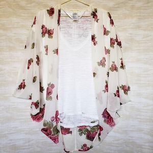 Urban Outfitters boho floral sheer summer kimono